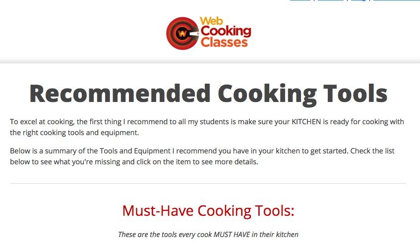 Click Here to see my List of Kitchen