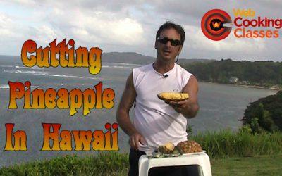 Cutting Pineapple Boats In Hawaii