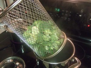 Pre-steam the broccoli