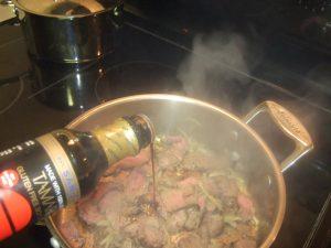 Deglaze with Soy Sauce