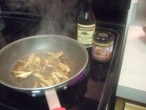 Saute Shitake Mushrooms in Butter.