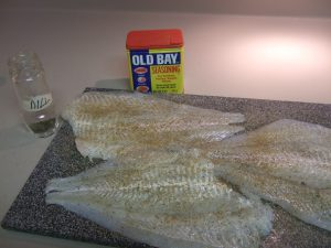 Old Bay Seasoned Flounder