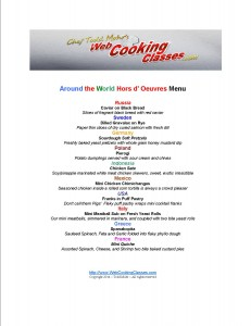 olympics party menu