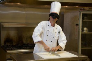 Chef Todd Mohr Chopping Blindfolded